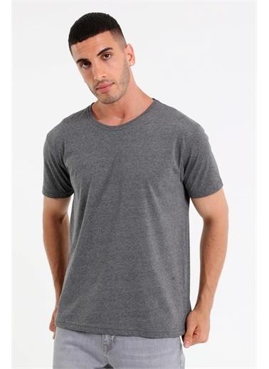 Rodi Jeans Erkek Bisiklet Yaka Basic T-Shirt Rd21Ye270930 Antrasit